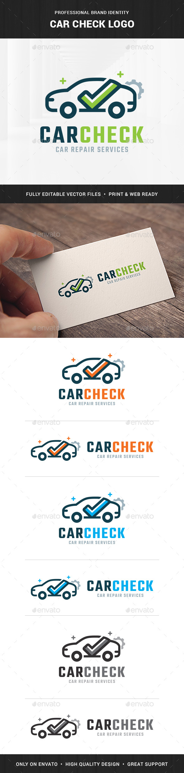Car Check Logo Template - Objects Logo Templates