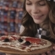 Pretty Young Girl Enjoying the Smell of a Pizza - VideoHive Item for Sale