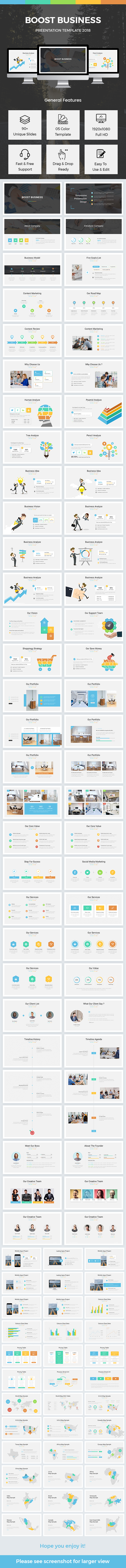 Boost Business Google Slides Template 2018 - Google Slides Presentation Templates