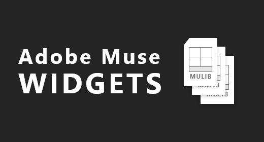 Adobe Muse widgets