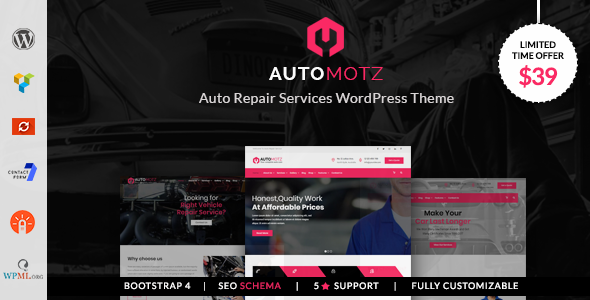 Automotz -  Auto Repair Services WordPress Theme - Business Corporate