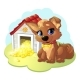 Happy Cartoon Puppy - GraphicRiver Item for Sale