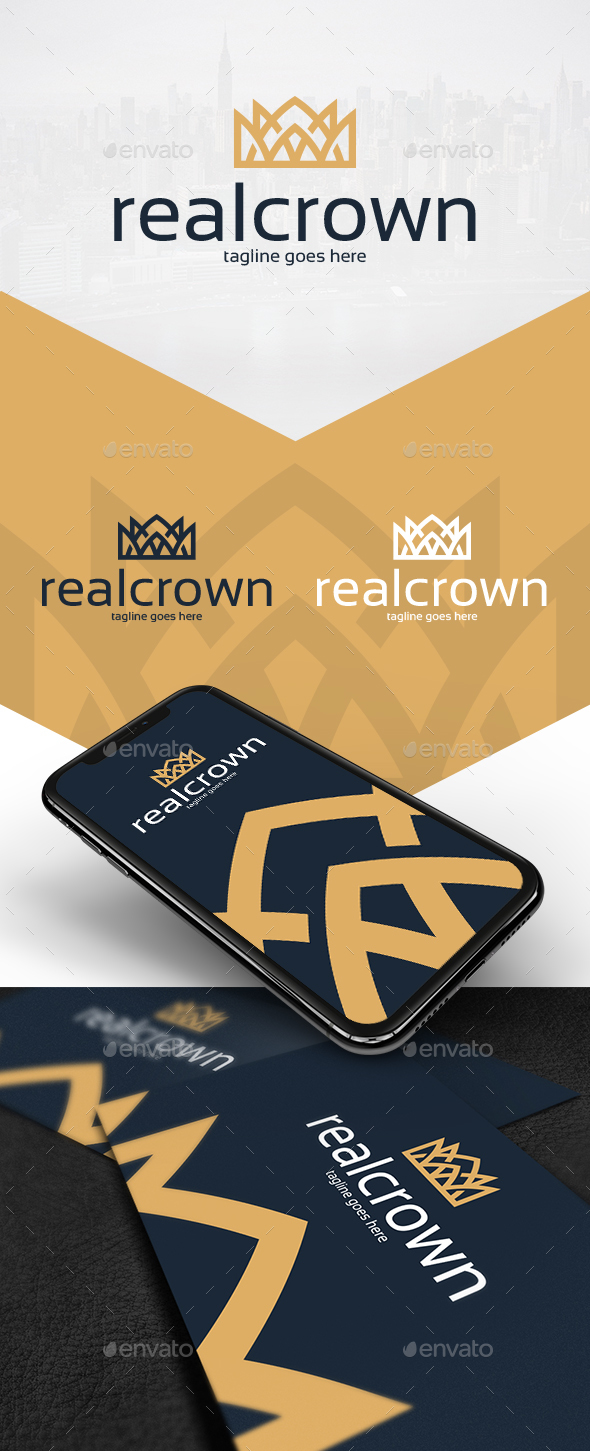 Royal Crown Logo Design - Vector Abstract
