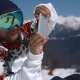 Snowboarder Taking Pics on the Phone - VideoHive Item for Sale