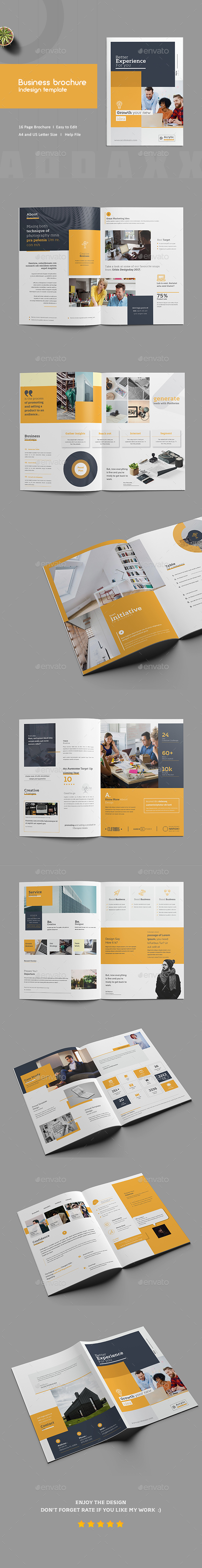 Business Brochure InDesign Template - Corporate Brochures