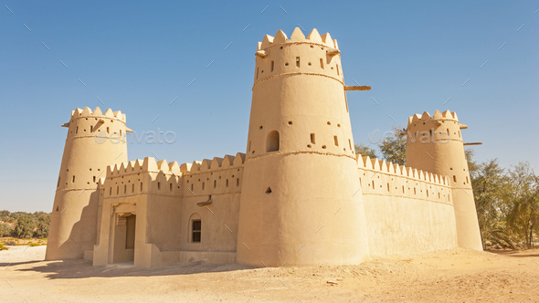 A Fort in the Liwa Crescent area of the UAE - Stock Photo - Images