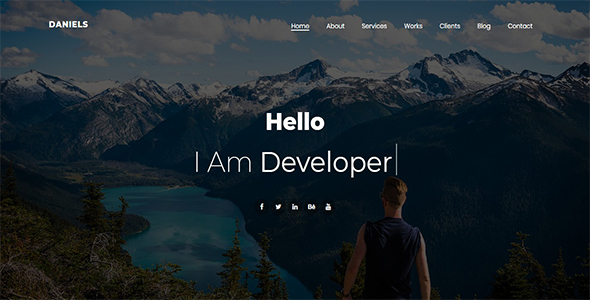 Daniels - One Page Portfolio - Personal Site Templates