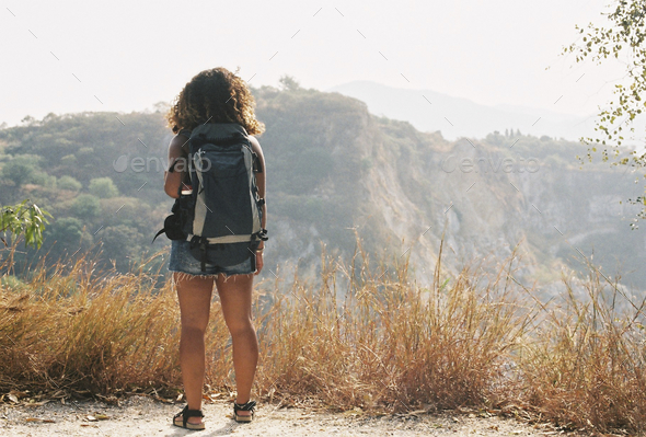 Young woman traveling alone - Stock Photo - Images