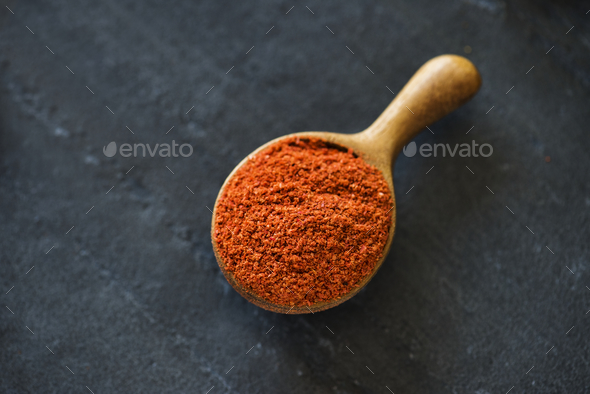 Close up of chilli powder - Stock Photo - Images