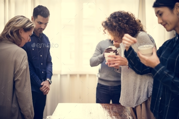 people in art exhibition - Stock Photo - Images