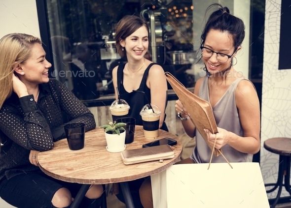 Women hanging out together - Stock Photo - Images