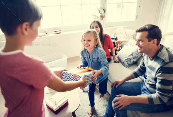 Family birthday party - Stock Photo - Images