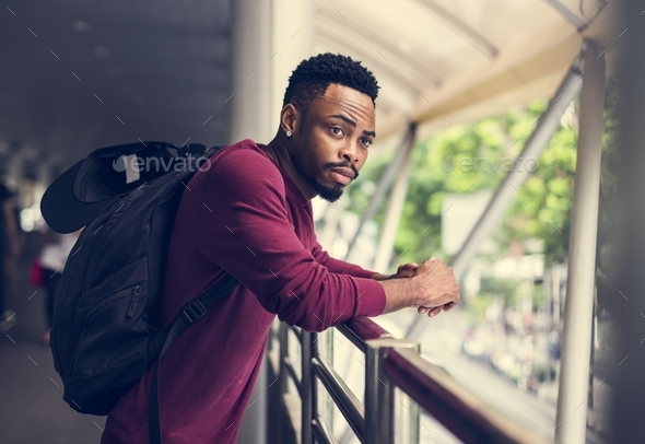 A man in the city fashion shoot - Stock Photo - Images