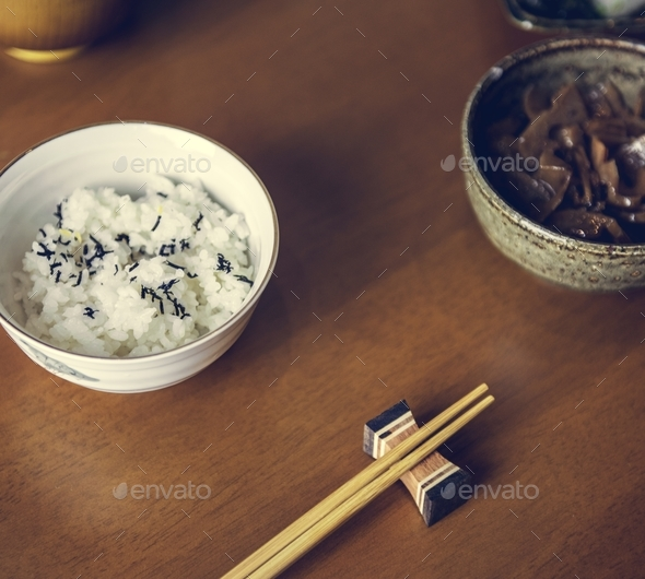 Asian japanese food culture on table - Stock Photo - Images