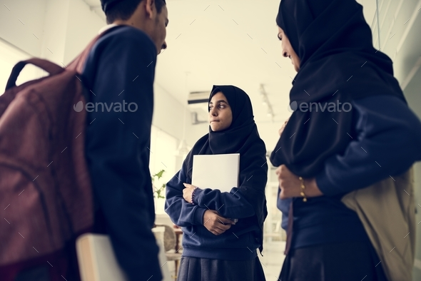A group of Muslim students - Stock Photo - Images