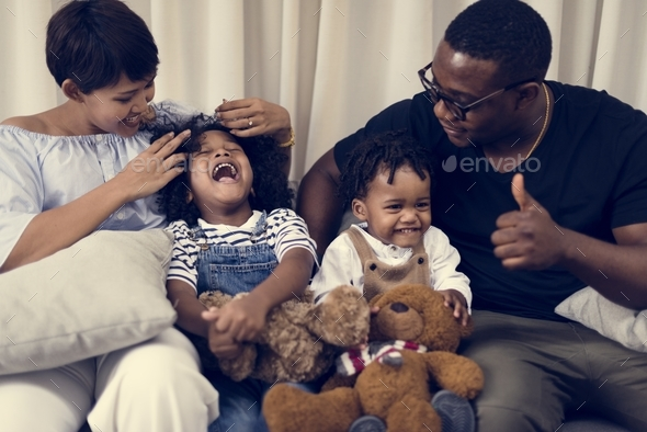 Happy African family - Stock Photo - Images