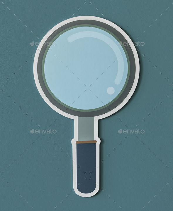 Magnifying glass search icon isolated - Stock Photo - Images
