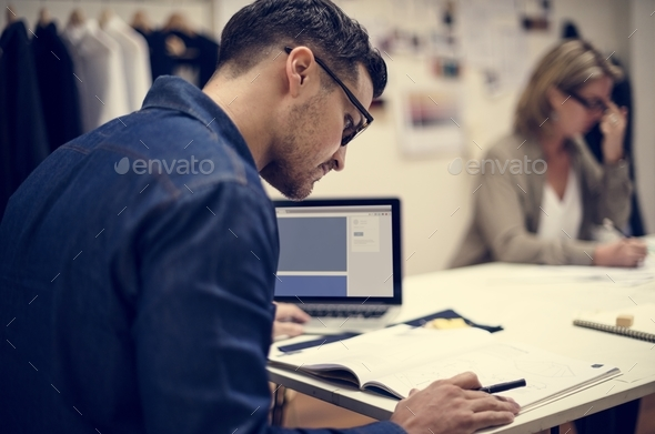 people working in office - Stock Photo - Images
