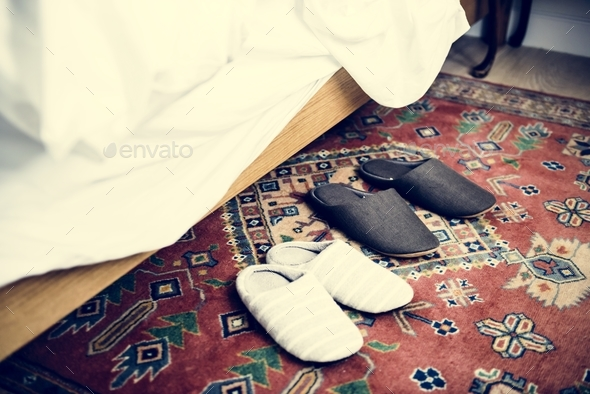 Couple slippers - Stock Photo - Images