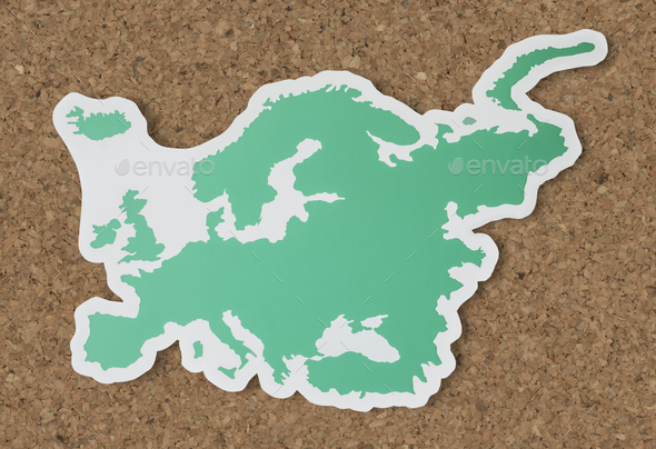 Blank map of Europe and countries - Stock Photo - Images