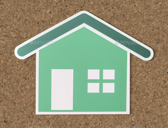 Home insurance cut out icon - Stock Photo - Images