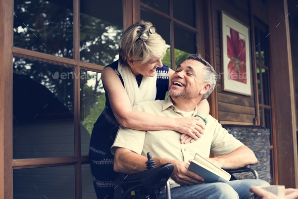 A couple is spending time together - Stock Photo - Images