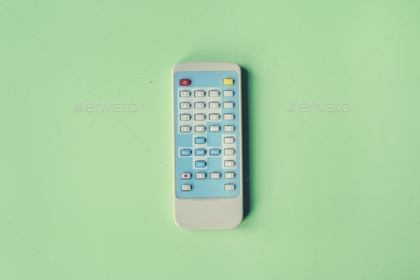 Remote control channel switch keypad isolated on background - Stock Photo - Images
