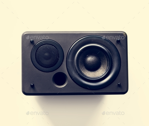 Speaker woofer musical eletronic audio bass - Stock Photo - Images