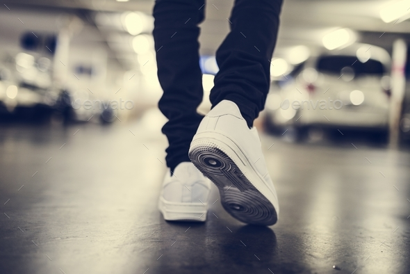 Jeans and sneakers - Stock Photo - Images