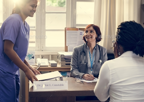 Patient meeting a doctor - Stock Photo - Images
