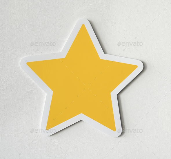 Paper craft of star icon - Stock Photo - Images