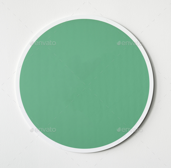 Green circle button icon isolated - Stock Photo - Images
