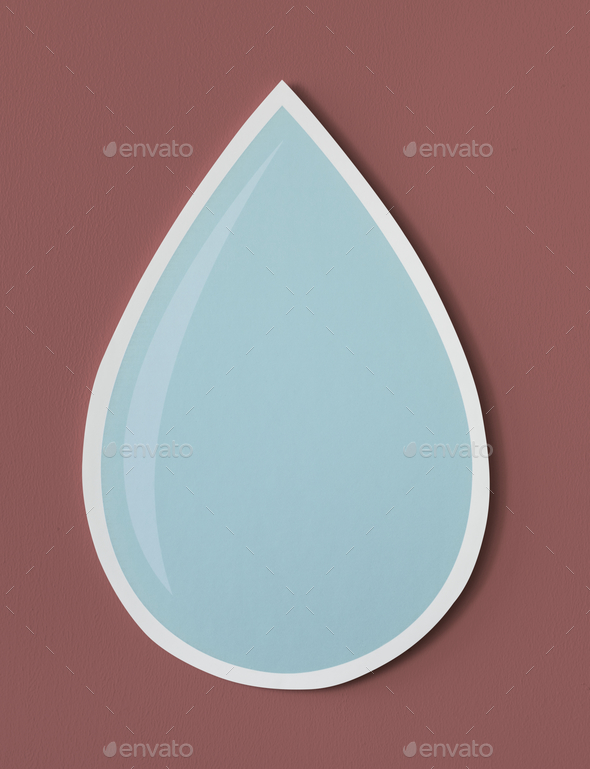 Water drop cut out icon - Stock Photo - Images