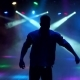 A Modern Young Guy Dances in the Dark in Nightclub - VideoHive Item for Sale