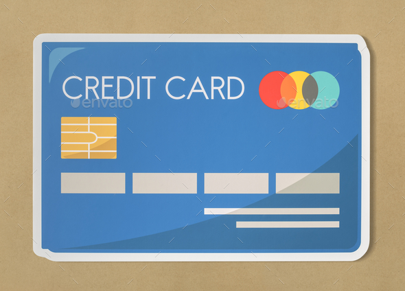 Credit card banking finance icon - Stock Photo - Images