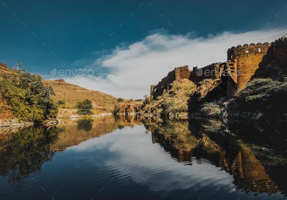 Lake in Jodhpur Rajasthan, India - Stock Photo - Images
