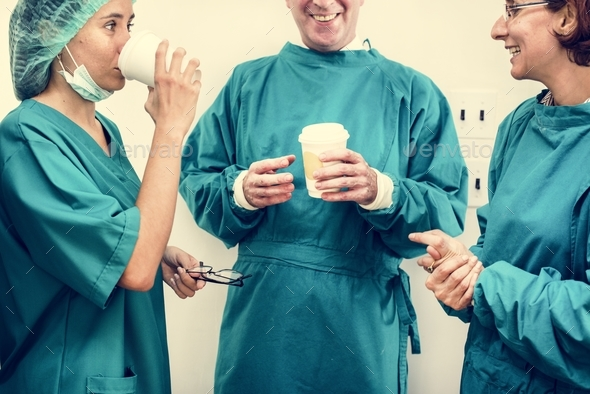 Doctors on a breaktime - Stock Photo - Images