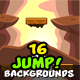 Jump Game Backgrounds in One Set - GraphicRiver Item for Sale
