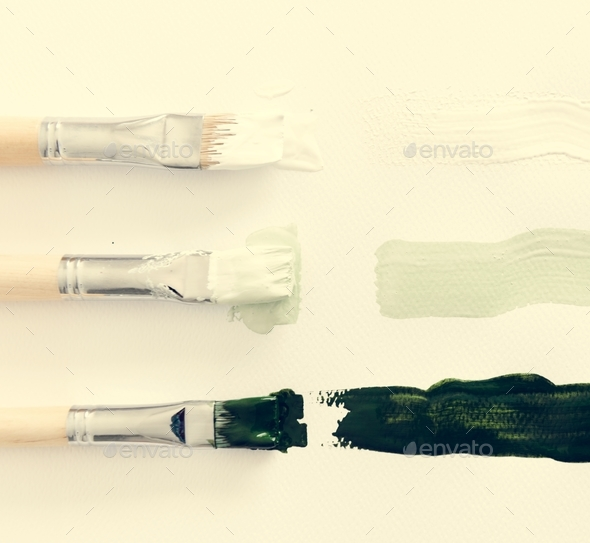 Paintbrush Art Tool on White Background - Stock Photo - Images