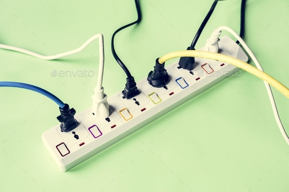 Electricity power supply plug and outlet - Stock Photo - Images