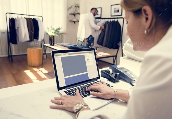 Woman working on projects - Stock Photo - Images
