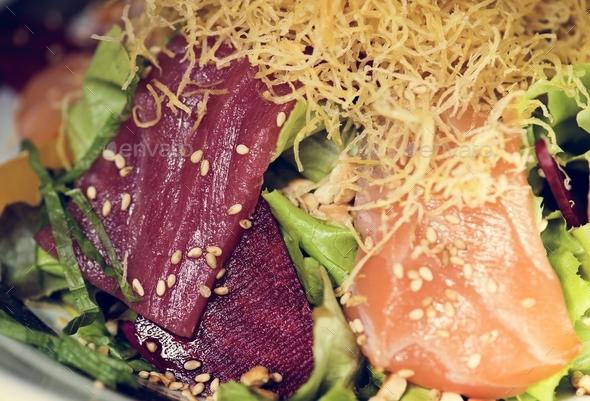 Sashimi japanese food healthy eating - Stock Photo - Images