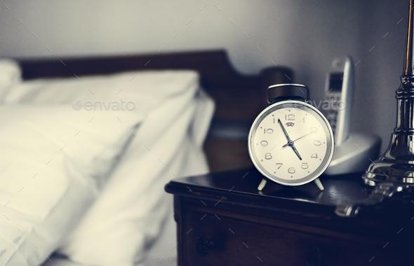 Bedroom alarm clock - Stock Photo - Images