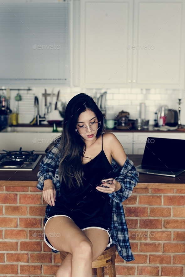 Woman lifestyle fashion shoot - Stock Photo - Images
