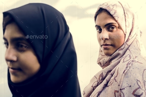 A group of young Muslim women - Stock Photo - Images