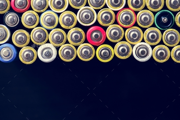 Alkaline battery energy supply storage - Stock Photo - Images