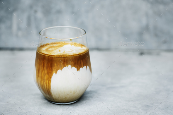 A perfect iced latte - Stock Photo - Images