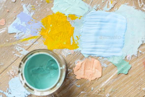 Paint color house renovation concept - Stock Photo - Images
