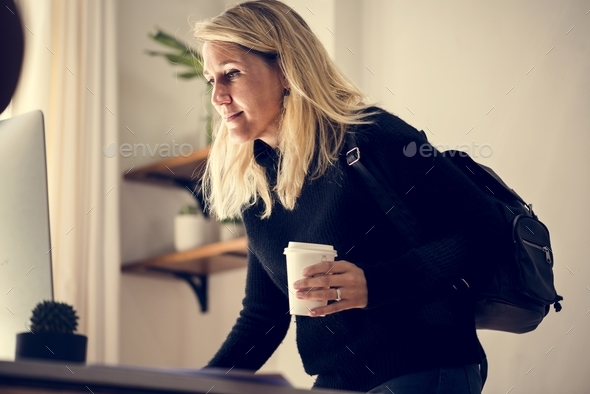Businesswoman in office - Stock Photo - Images