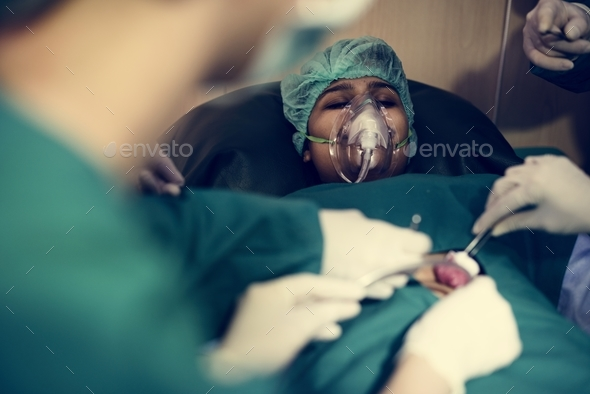 Doctors are doing an operation - Stock Photo - Images